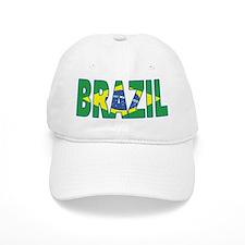 Brazil Soccer Flag Baseball Cap