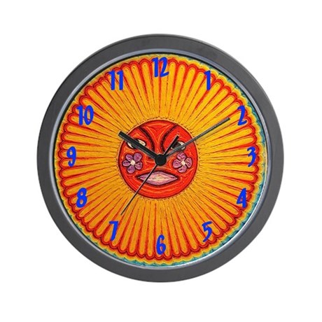 Huichol String Art Wall Clock Wall Clock