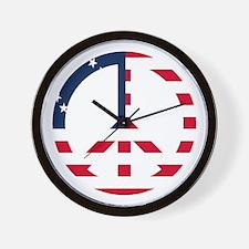 Betsy Ross Flag Peace Sign Wall Clock Wall Clock