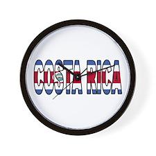 Costa Rica Soccer Flag  Wall Clock