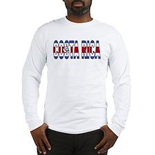 Costa Rica Soccer Flag  Long Sleeve T-Shirt
