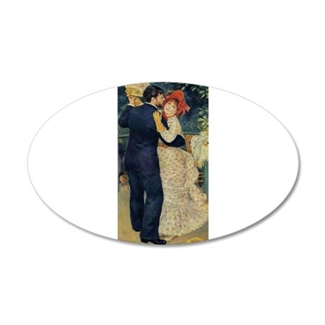 Dance in the Country 38.5 x 24.5 Oval Wall Peel
