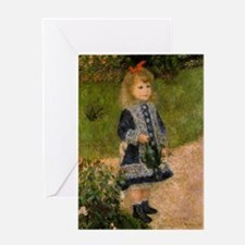 Girl with Watering Can Greeting Card