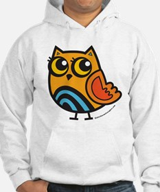 Orange+Blue Owl Jumper Hoody