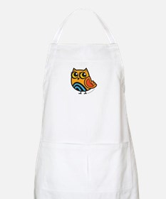Orange+Blue Owl Apron