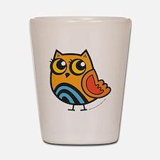 Orange+Blue Owl Shot Glass