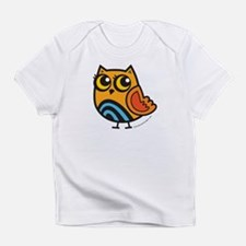 Orange+Blue Owl Infant T-Shirt