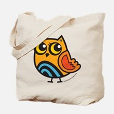 Colorful Rainbow Owl Tote Bag