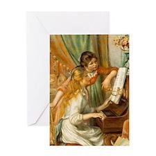 Girls at the Piano Greeting Card