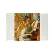 Girls at the Piano Rectangle Magnet