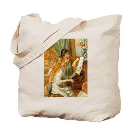 Girls at the Piano Tote Bag