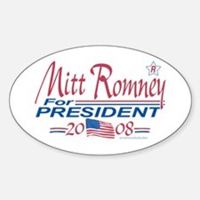 Romney for President 08 Oval Decal