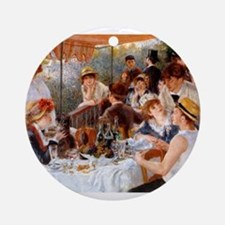 Luncheon of the Boating Party Ornament (Round)