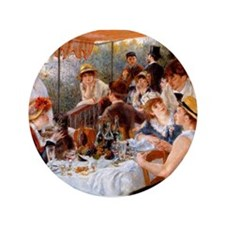 """Luncheon of the Boating Party 3.5"""" Button"""