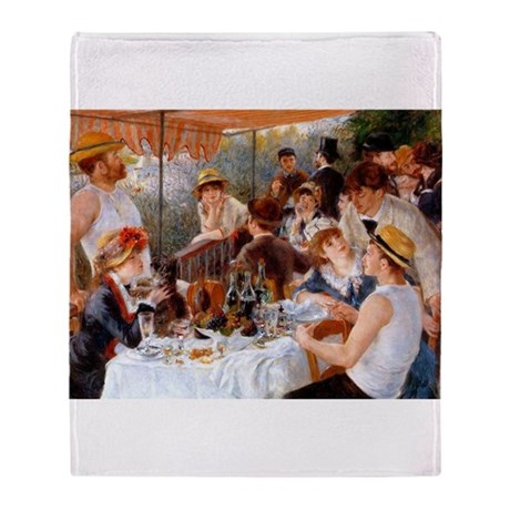 Luncheon of the Boating Party Throw Blanket