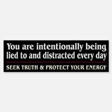 Protect Your Energy ~ Bumper Bumper Sticker