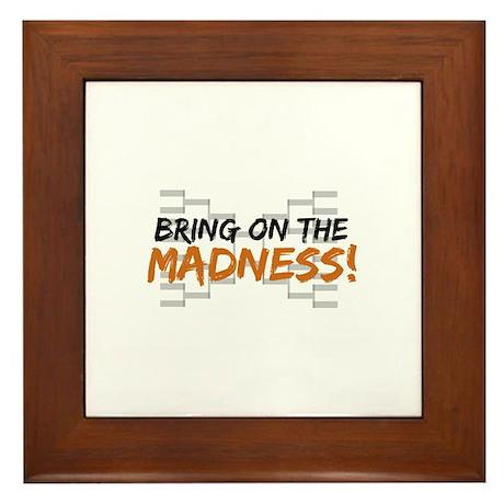 Bring on March Madness Framed Tile