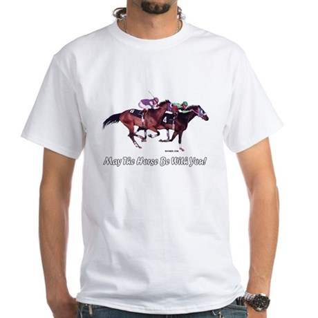 May The Horse Be With You White T-Shirt (F)