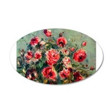 Roses of Vargemont 22x14 Oval Wall Peel