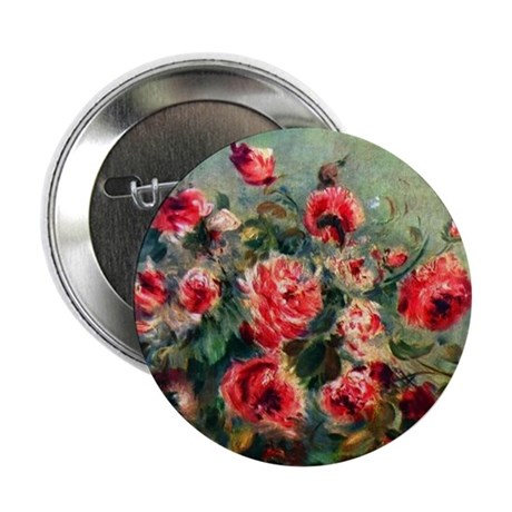 """Roses of Vargemont 2.25"""" Button (10 pack)"""