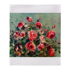 Roses of Vargemont Throw Blanket