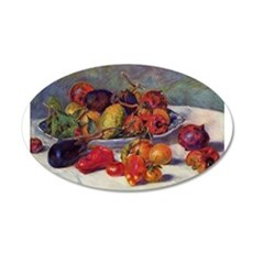 Still Life With Fruit 22x14 Oval Wall Peel