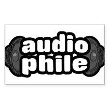 """The Audiophile"" Rectangle Decal"