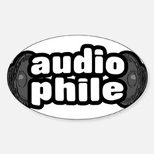 """""""The Audiophile"""" Oval Decal"""