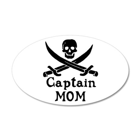 Captain Mom 20x12 Oval Wall Decal