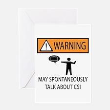 Spontaneously Talk CSI Greeting Card