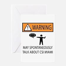 Spontaneously Talk CSI Miami Greeting Card
