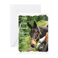 Mule Greeting Card