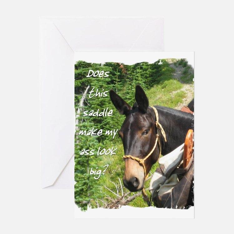 Mule Greeting Card