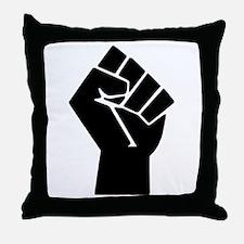 Black Power Fist Throw Pillow