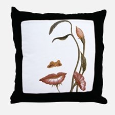 Flower Face Illusion Throw Pillow