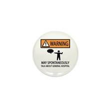 Spontaneously Talk General Hospital Mini Button (1