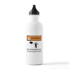 Spontaneously Talk General Hospital Water Bottle