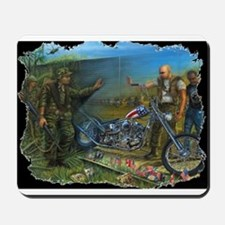 BIKER AT THE WALL Mousepad