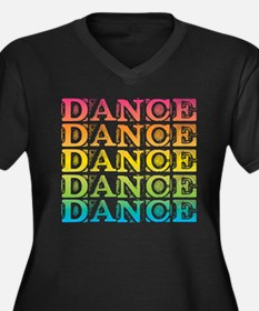 Cute Choreographer Women's Plus Size V-Neck Dark T-Shirt