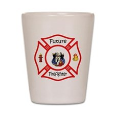 Future Firefighter Red Shot Glass