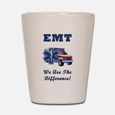 EMT We Are The Difference Shot Glass