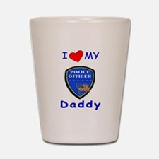 I Love Police Officer Daddy Shot Glass