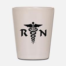 RN Medical Symbol Shot Glass