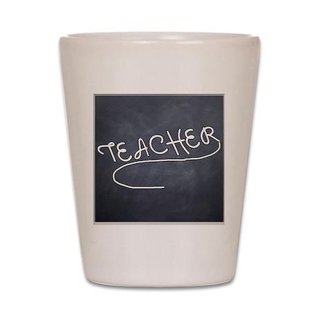Teachers Blackboard Shot Glass