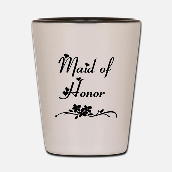 Classic Maid of Honor Shot Glass