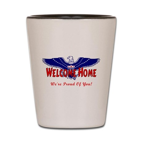 Military Welcome Home Shot Glass