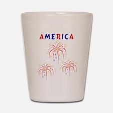 America's Fireworks Shot Glass