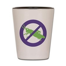 No Grasshoppers Shot Glass