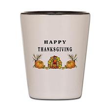 Thanksgiving Holiday Shot Glass