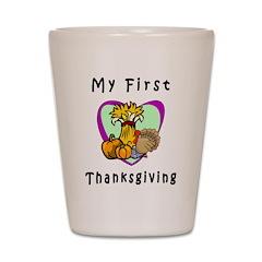 My First Thanksgiving Shot Glass